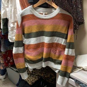 Madewell patch pocket sweater in Walton stripe